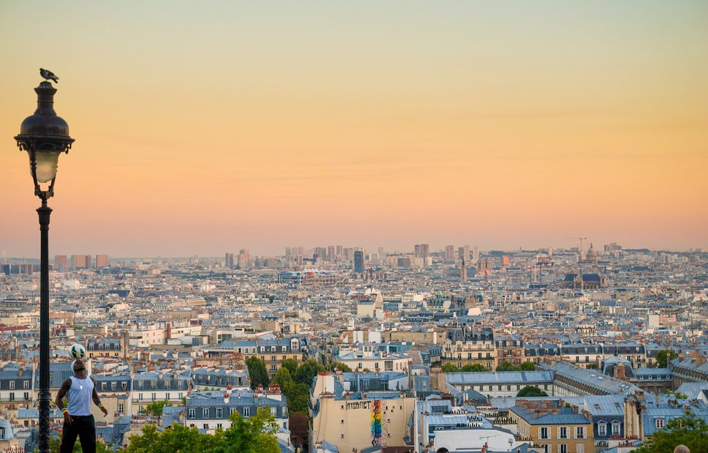 Paris from Sacre Couer at dusk