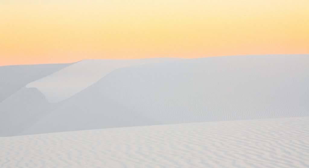Dusk, Abstract #4 in White Sands National Monument in New Mexico