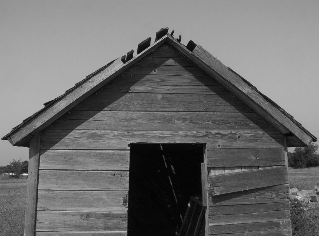 Old storage shed in Nicodemus Kansas