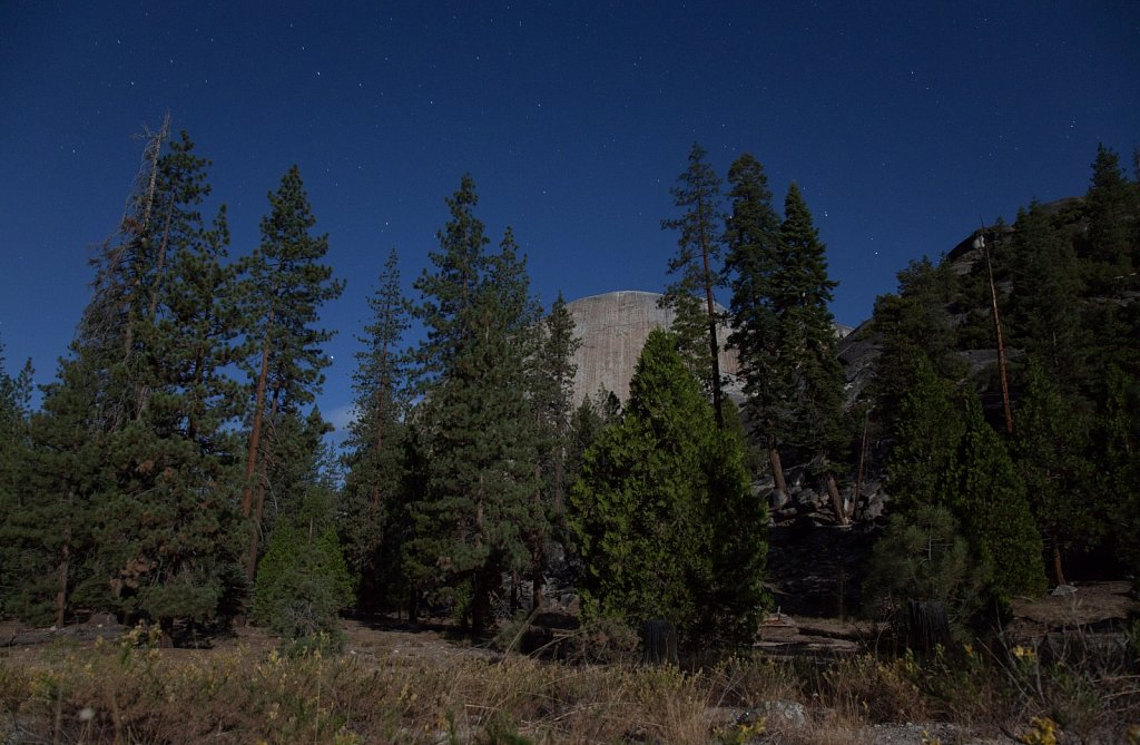 Half Dome by the light of a full moon
