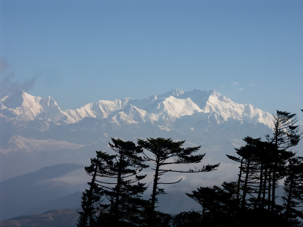 Kanchenjunga peak in the high Himalayas