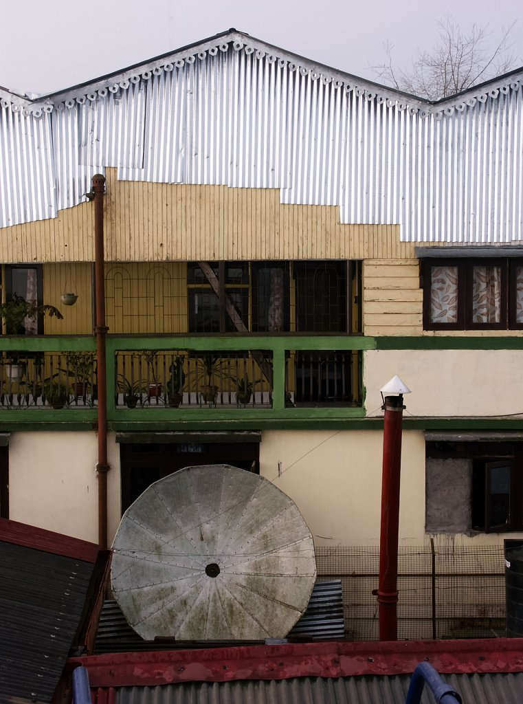 Old Satellite dish and buildings in Darjeeling