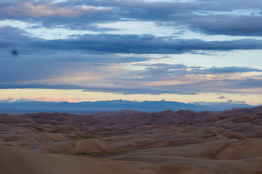 Sand dunes stretch into forever, or just the San Luis Valley