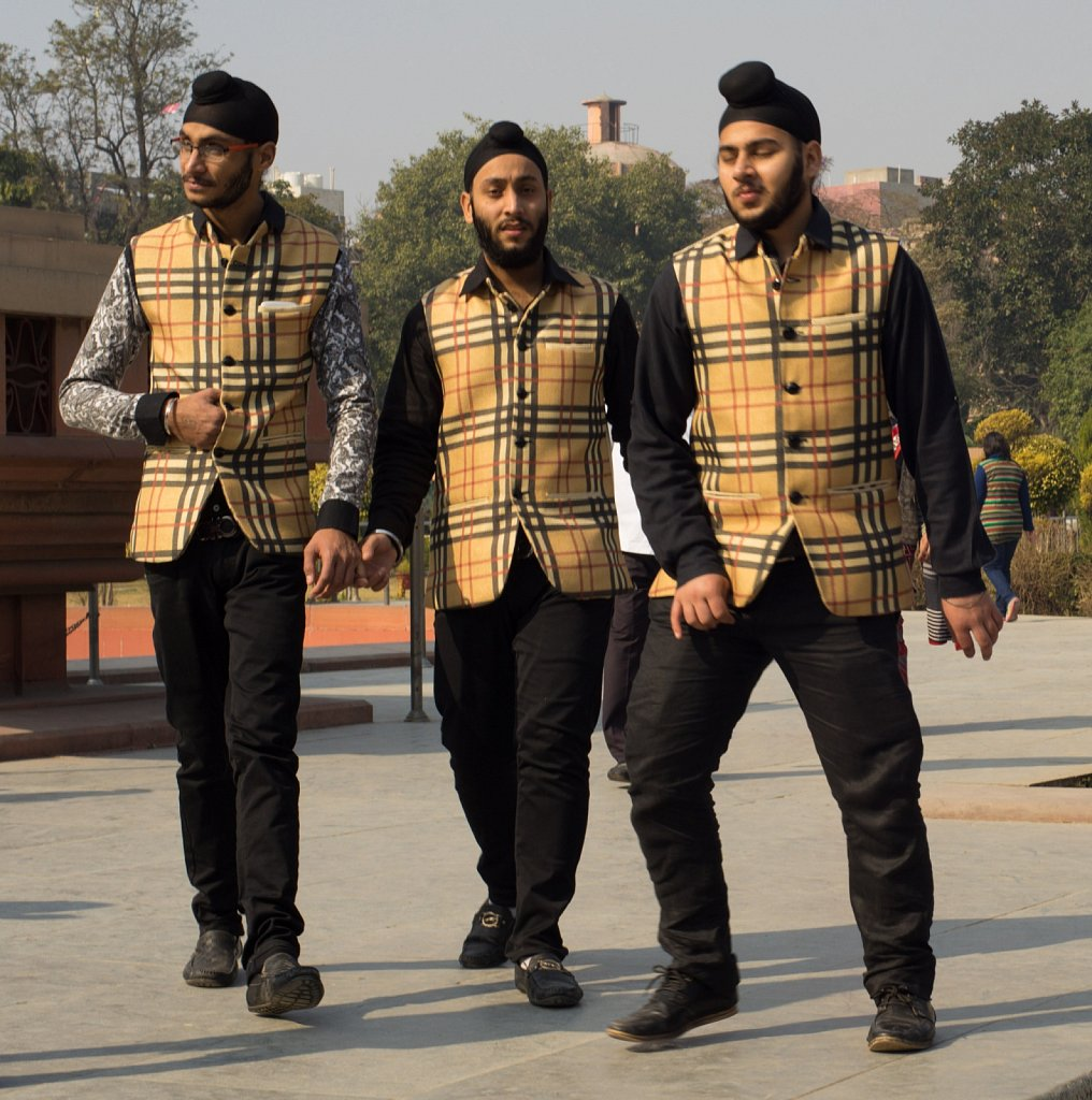 Three Dapper Sikhs in Butterscoth Plaid