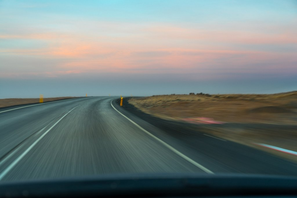 Open road at dawn